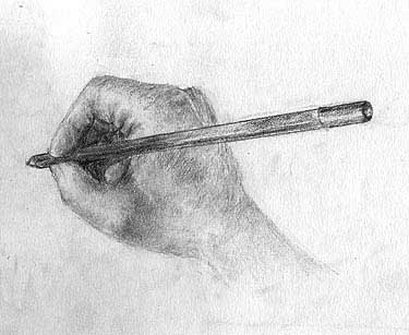 Sketch of right hand
